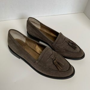 NWB Van Eli Gray Suede Loafers Size 6